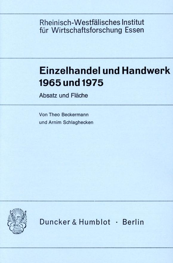 Cover Einzelhandel und Handwerk 1965 und 1975