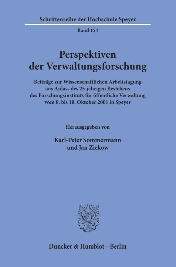 Cover Perspektiven der Verwaltungsforschung