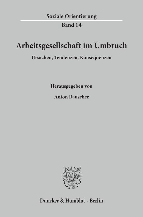 Cover Arbeitsgesellschaft im Umbruch