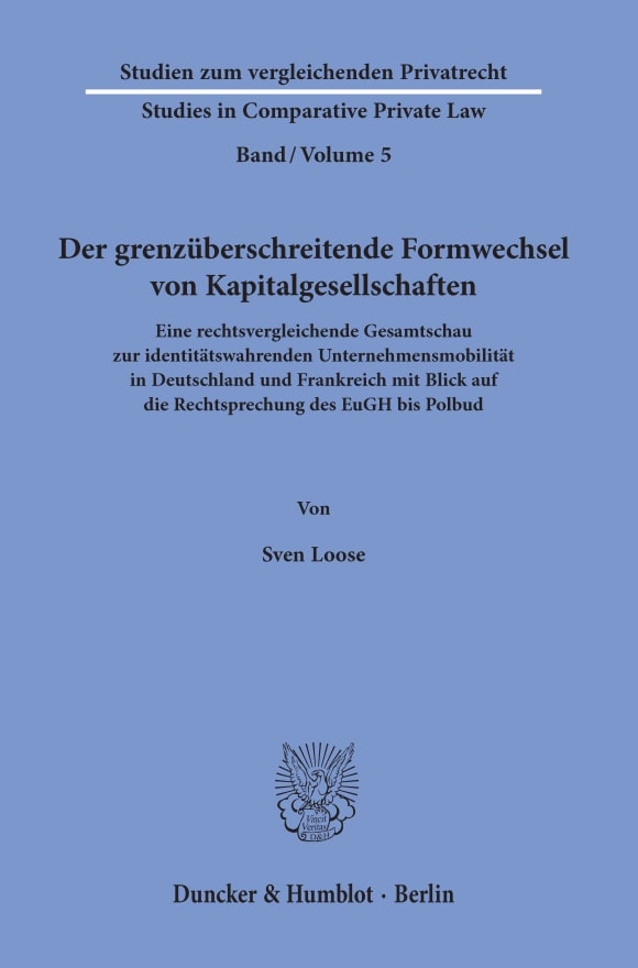 Cover Studien zum vergleichenden Privatrecht / Studies in Comparative Private Law (SVP)