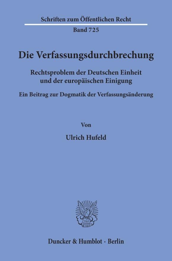 Cover Die Verfassungsdurchbrechung