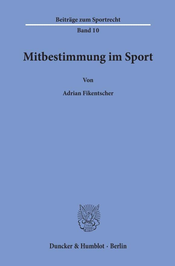 Cover Mitbestimmung im Sport