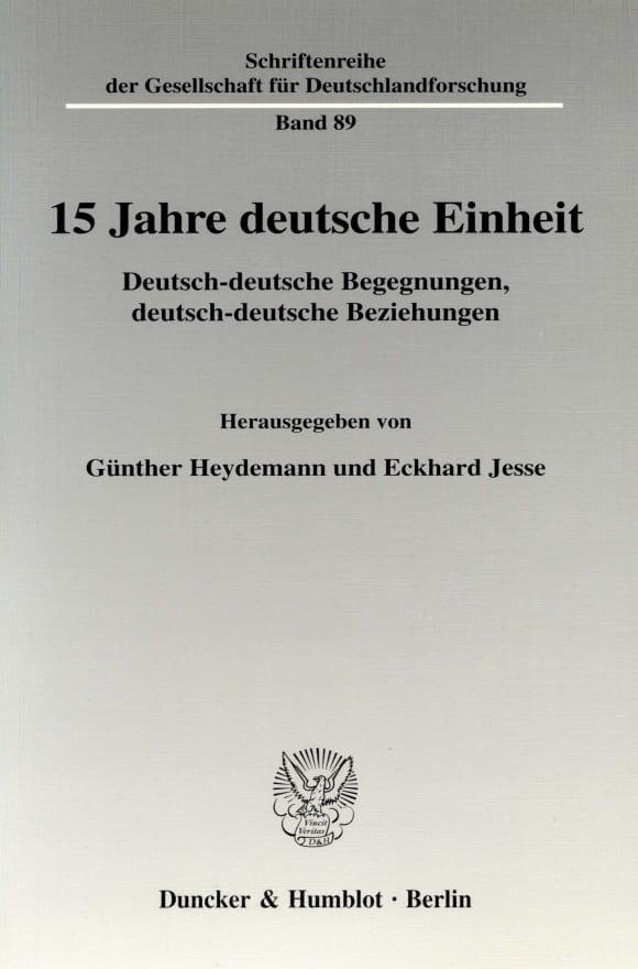 Cover 15 Jahre deutsche Einheit