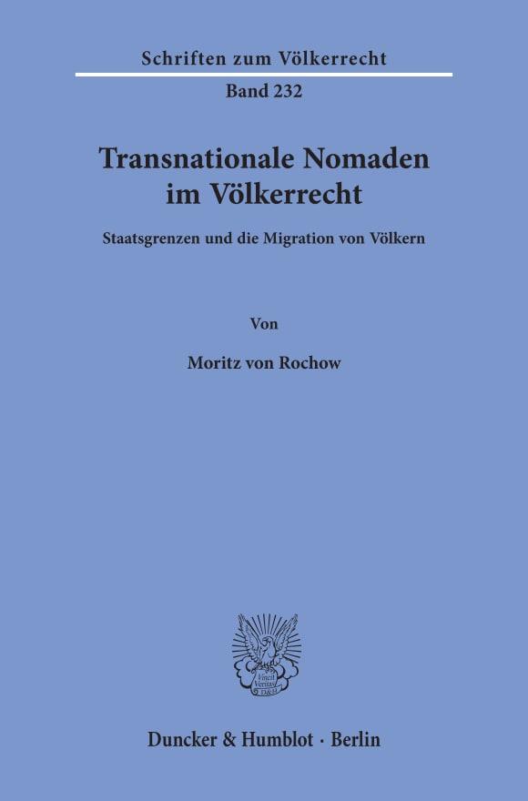 Cover Transnationale Nomaden im Völkerrecht