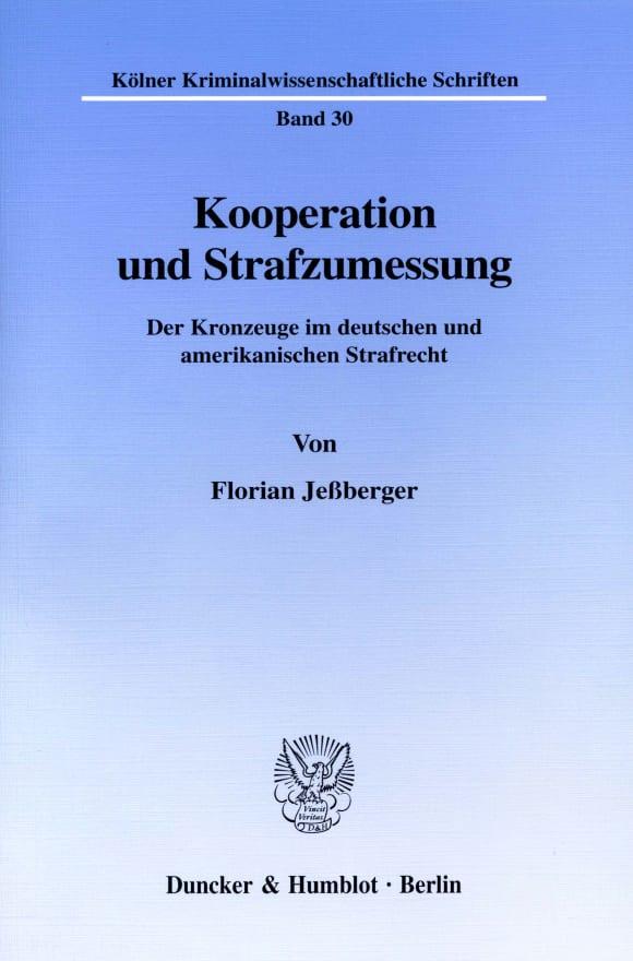 Cover Kooperation und Strafzumessung
