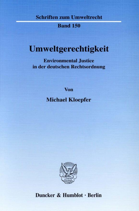 Cover Umweltgerechtigkeit