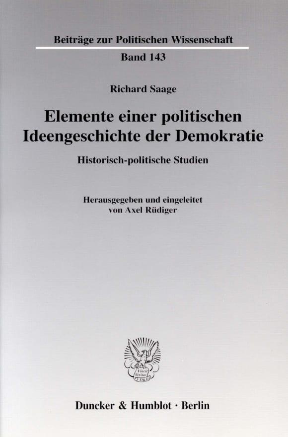 Cover Elemente einer politischen Ideengeschichte der Demokratie