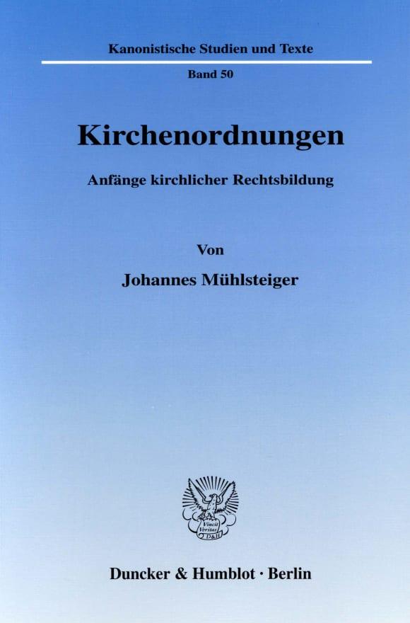 Cover Kirchenordnungen
