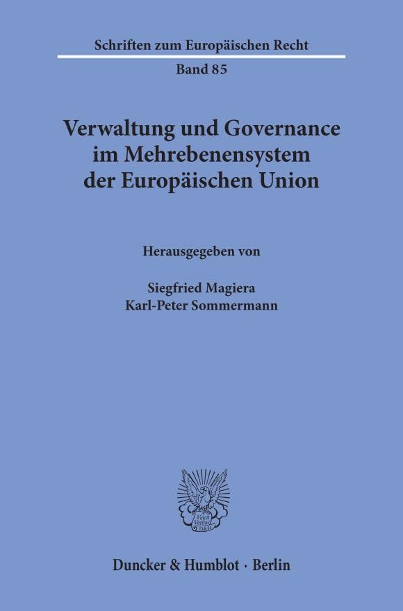 Cover Verwaltung und Governance im Mehrebenensystem der Europäischen Union