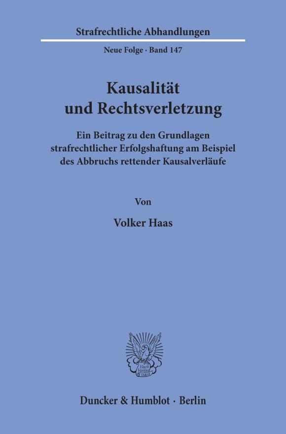 Cover Kausalität und Rechtsverletzung