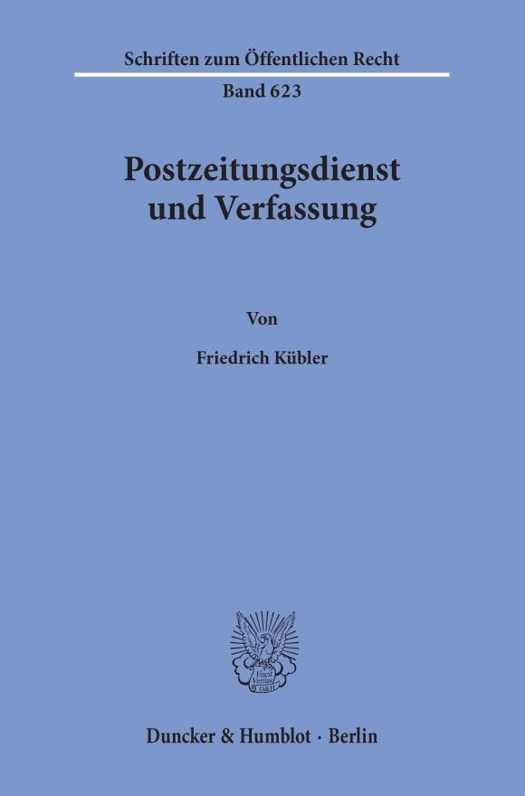 Cover Postzeitungsdienst und Verfassung