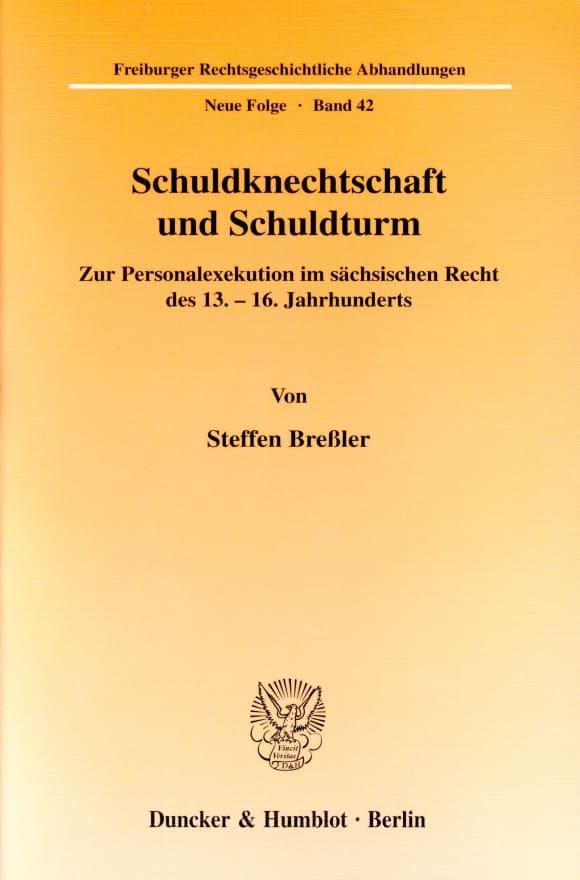 Cover Schuldknechtschaft und Schuldturm
