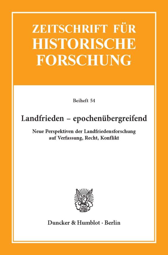 Cover Landfrieden – epochenübergreifend