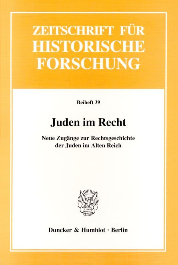 Cover Juden im Recht