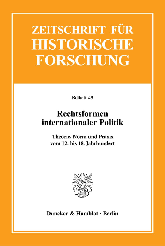 Cover Rechtsformen internationaler Politik