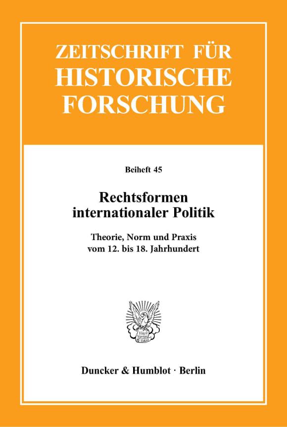 Cover Rechtsformen internationaler Politik
