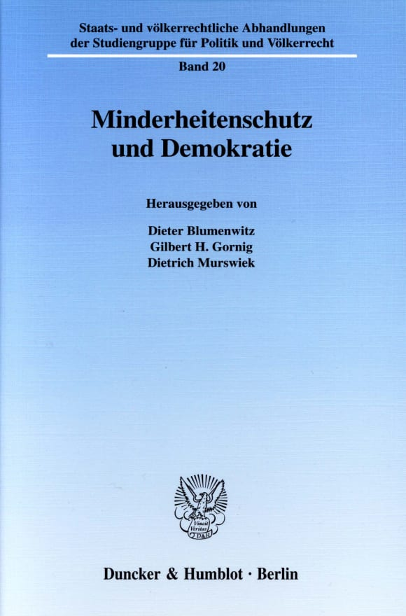 Cover Minderheitenschutz und Demokratie