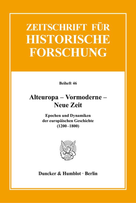 Cover Alteuropa – Vormoderne – Neue Zeit
