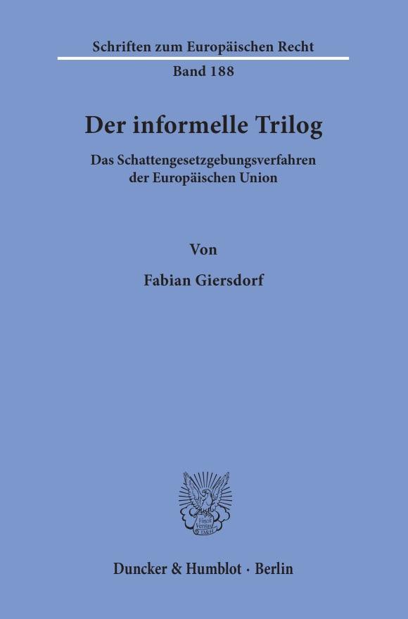 Cover Der informelle Trilog