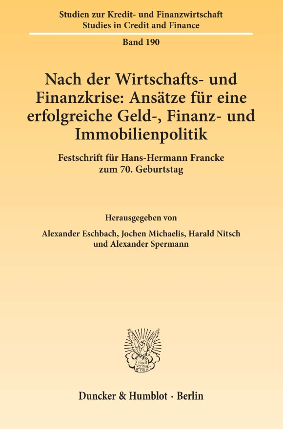 Cover Studien zur Kredit- und Finanzwirtschaft / Studies in Credit and Finance (SZKF)