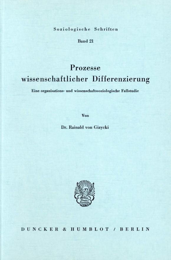 Cover Prozesse wissenschaftlicher Differenzierung