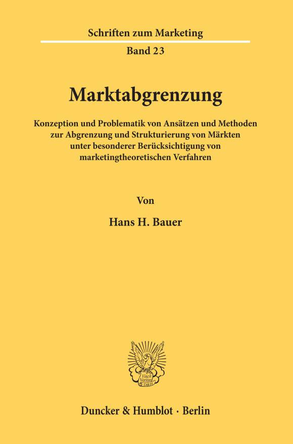 Cover Marktabgrenzung