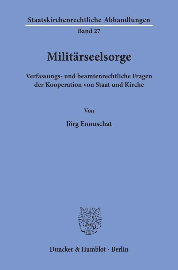 Cover Militärseelsorge
