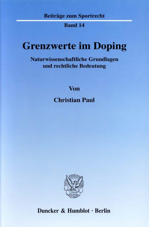 Cover Grenzwerte im Doping