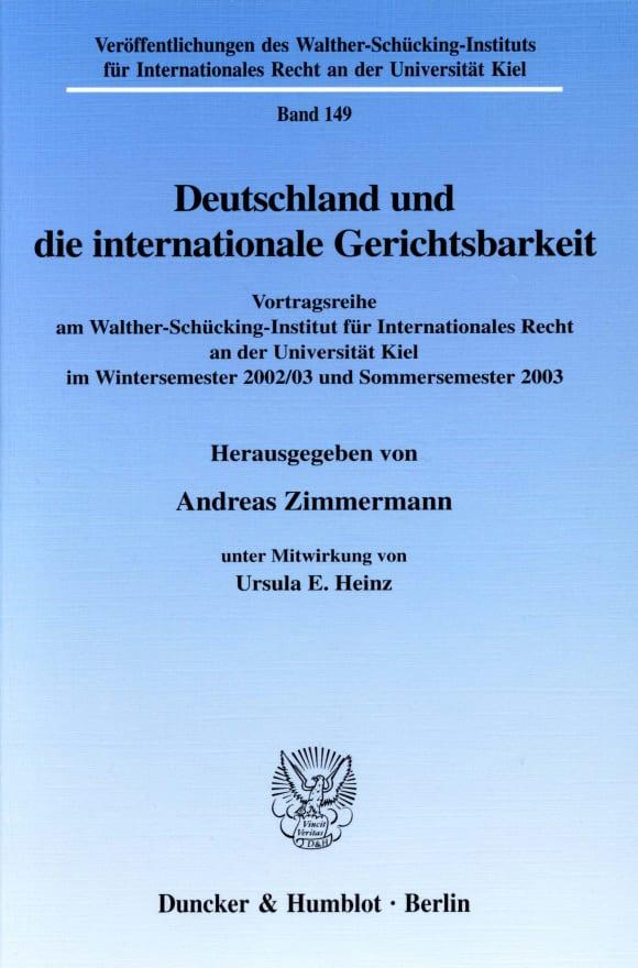 Cover Deutschland und die internationale Gerichtsbarkeit