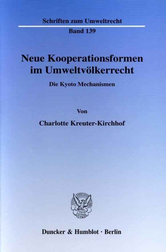 Cover Neue Kooperationsformen im Umweltvölkerrecht