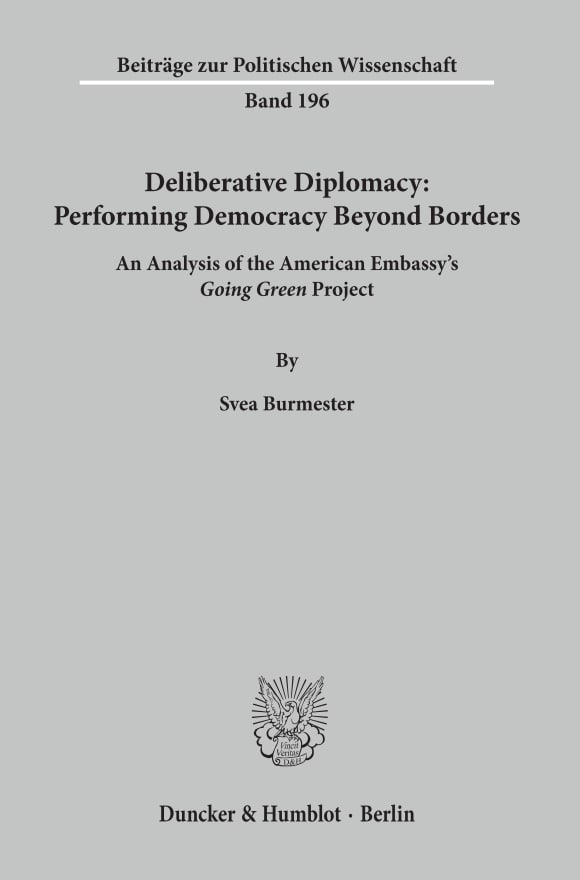 Cover Deliberative Diplomacy: Performing Democracy Beyond Borders