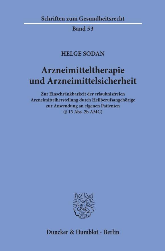 Cover Arzneimitteltherapie und Arzneimittelsicherheit