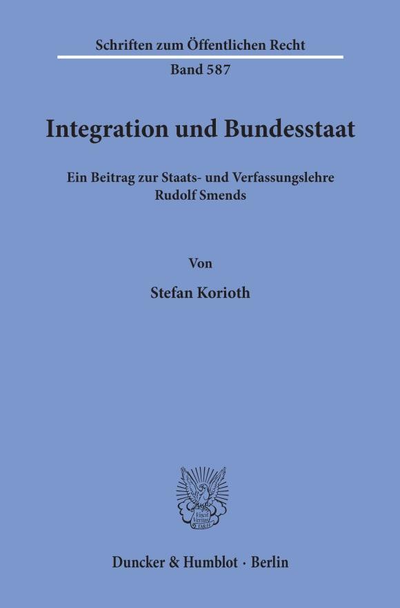 Cover Integration und Bundesstaat