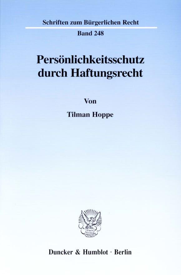 Cover Persönlichkeitsschutz durch Haftungsrecht