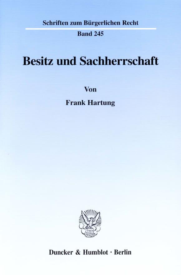Cover Besitz und Sachherrschaft