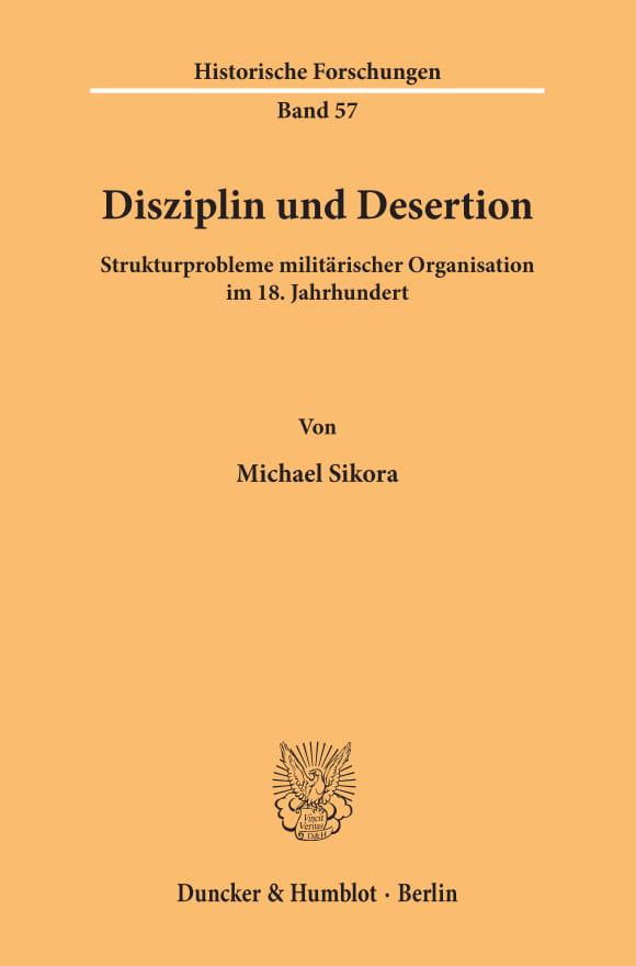 Cover Disziplin und Desertion