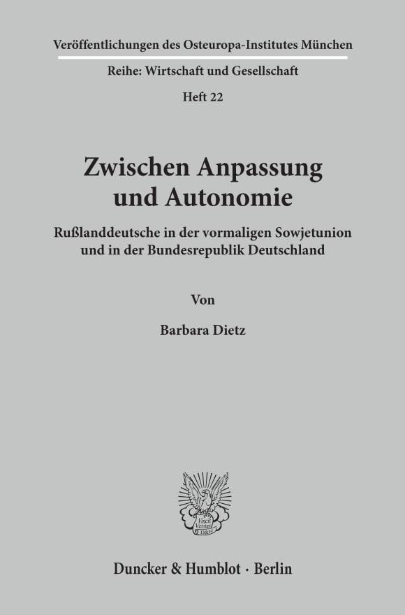 Cover Zwischen Anpassung und Autonomie