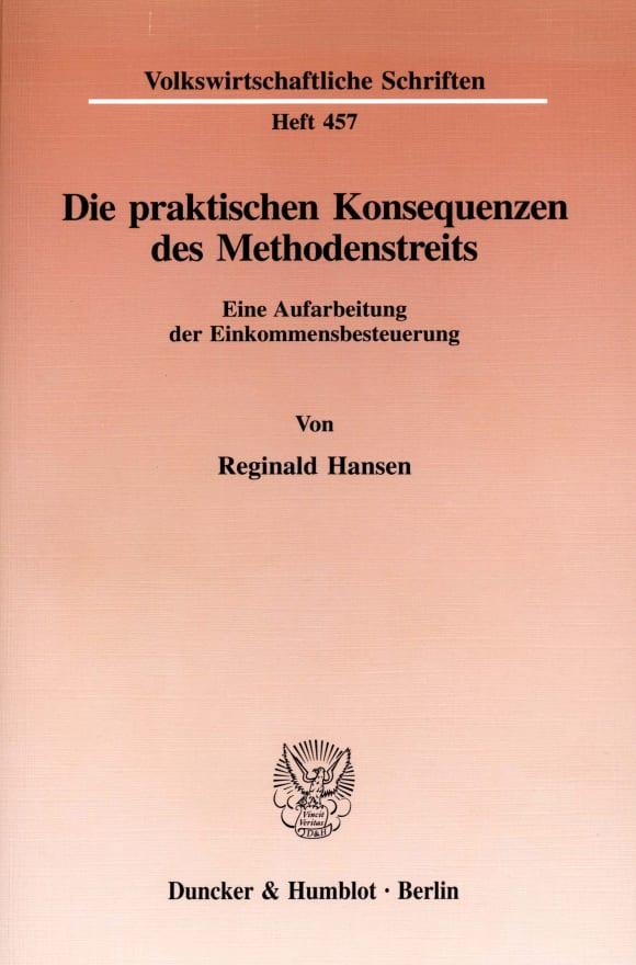 Cover Die praktischen Konsequenzen des Methodenstreits