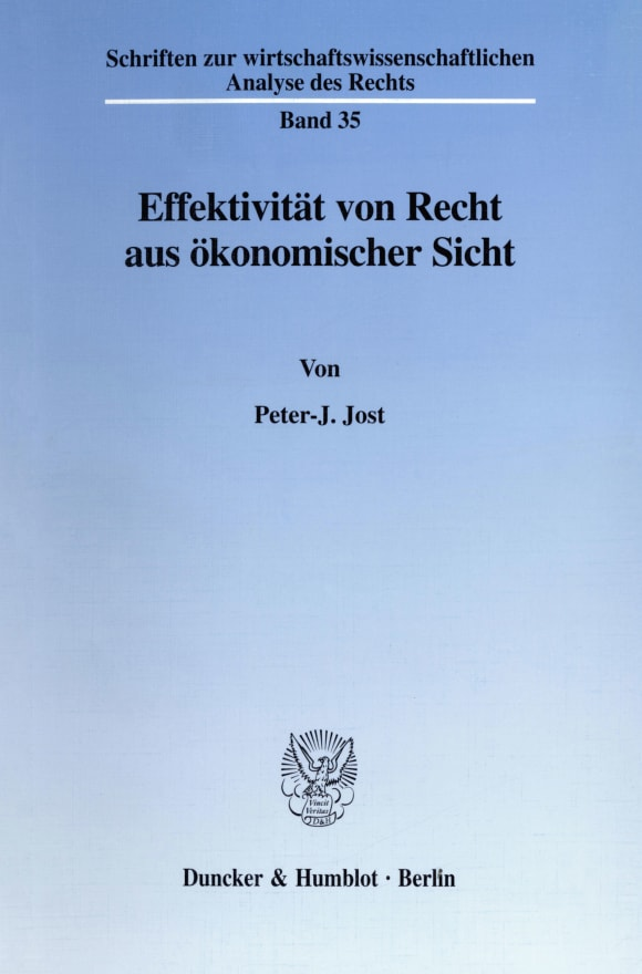 Cover Effektivität von Recht aus ökonomischer Sicht