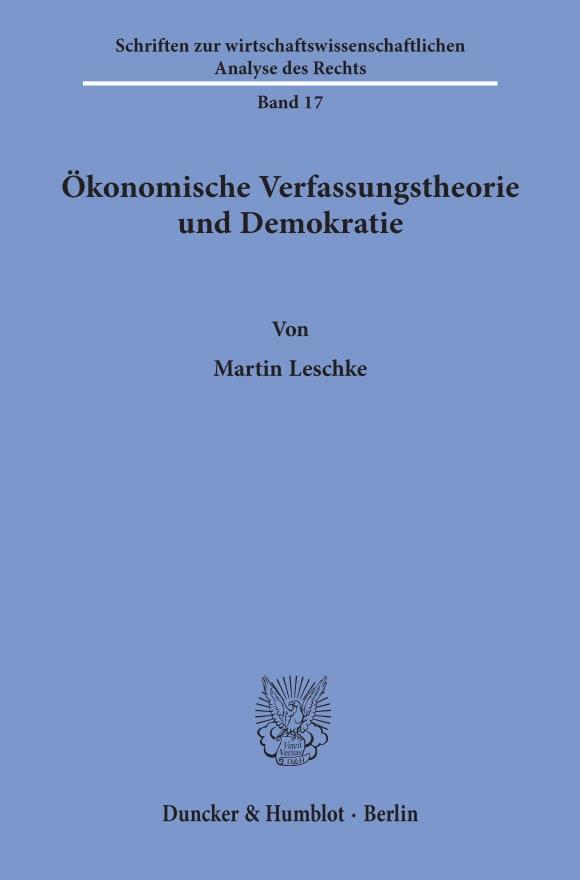 Cover Ökonomische Verfassungstheorie und Demokratie