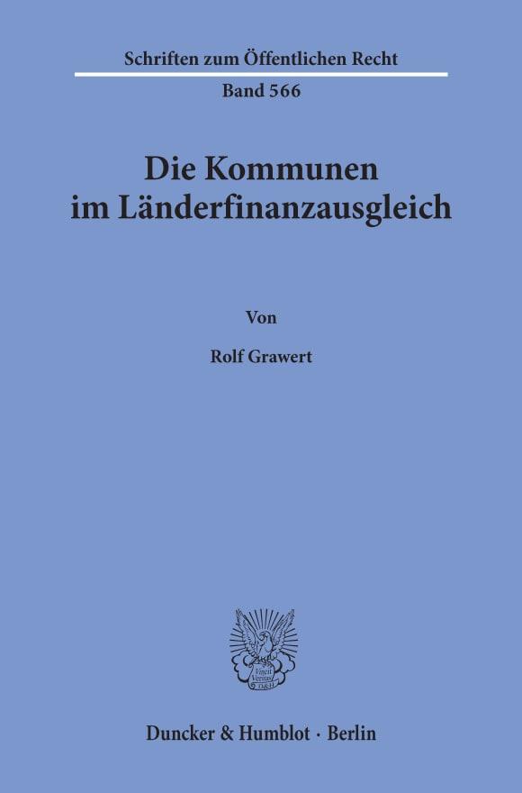 Cover Die Kommunen im Länderfinanzausgleich