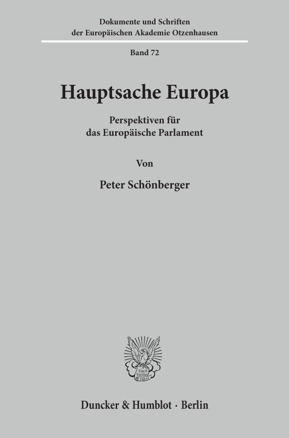 Cover Hauptsache Europa