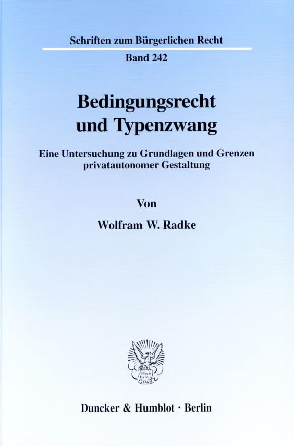 Cover Bedingungsrecht und Typenzwang
