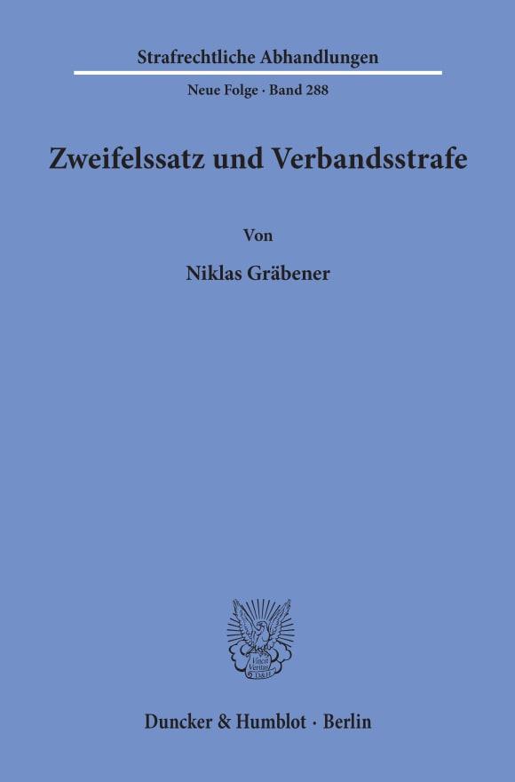 Cover Zweifelssatz und Verbandsstrafe