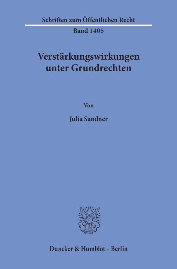 Cover Verstärkungswirkungen unter Grundrechten