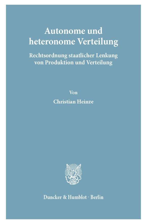 Cover Autonome und heteronome Verteilung