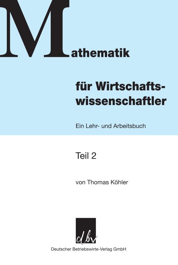 Cover Mathematik für Wirtschaftswissenschaftler