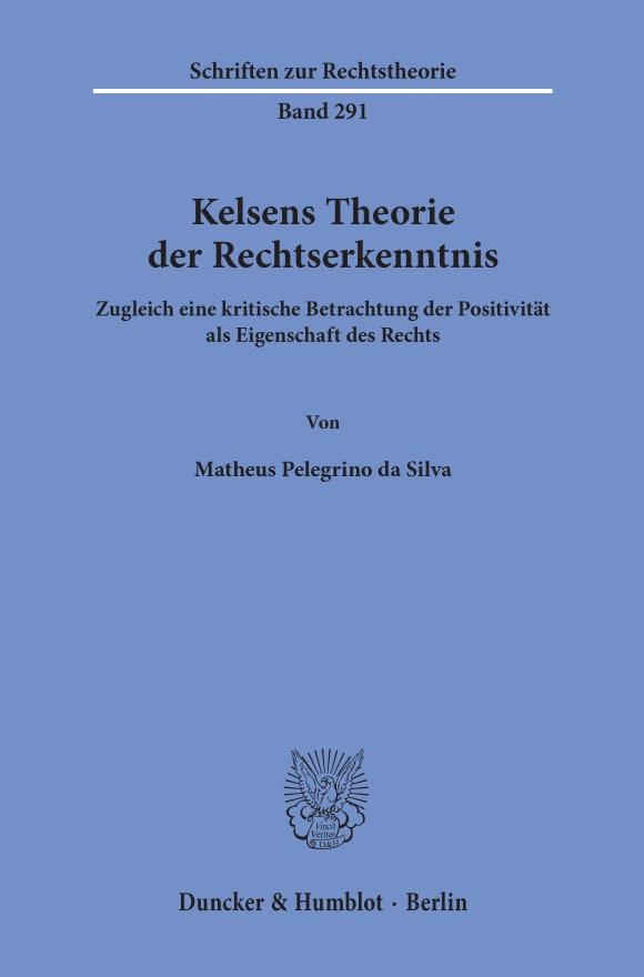 Cover Kelsens Theorie der Rechtserkenntnis