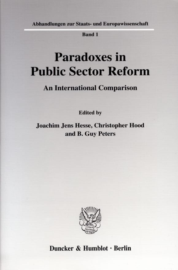 Cover Paradoxes in Public Sector Reform: An International Comparison