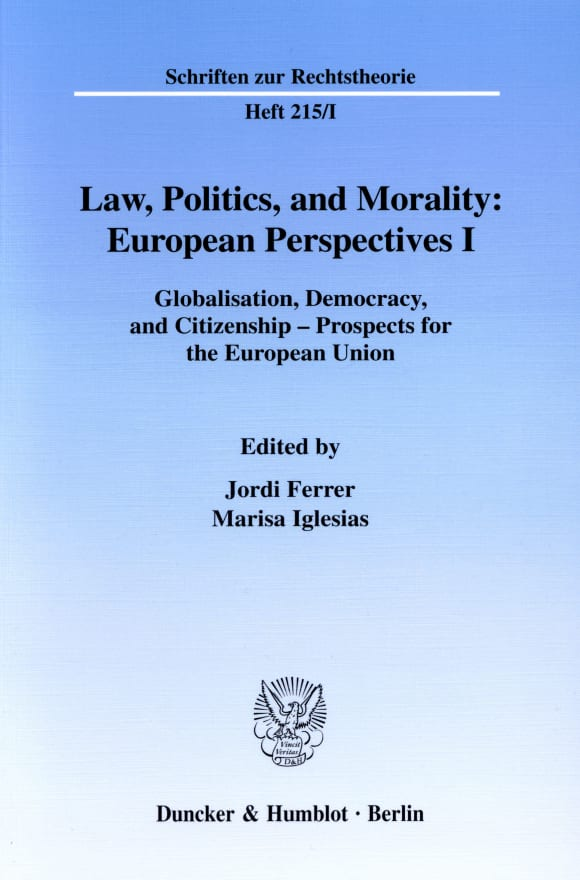 Cover Law, Politics, and Morality: European Perspectives I